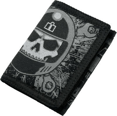 ICON Busted & Broken Motorcycle Wallet (Black)