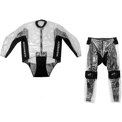 ALPINESTARS Racing Two-Piece Over Suit Motorcycle Rainsuit (Clear/Black) 3XL