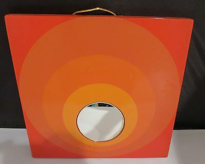 MOD Retro PSYCHEDELIC Op Art SPACE AGE Vintage Orange Red Circles Wall Mirror