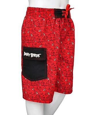 ragazzi rosso Angry UCCELLI Pantaloncini da nuoto ~ Ages 3/4 to 11/12