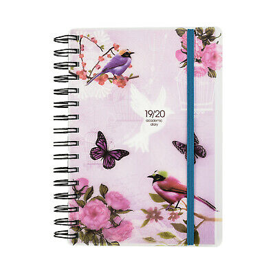 2018-2019 Academic diary mid year A5 Diary Day to a Page Spiral PVC Cover x 1