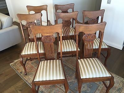 Antique chairs And Table Oak Early 1900