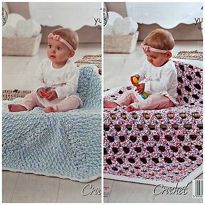 CROCHET PATTERN Baby Easy Crochet Round/Square Blanket YummyChunky KingCole 4678