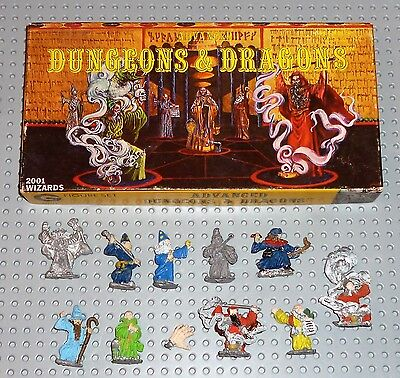 "AD&D GRENADIER FIGURE SET ""Wizards"" complete no.2001 1980's (painted)"