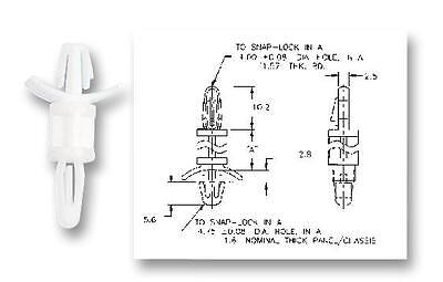LOCKING PCB SUPPORT 4.8MM (20PK) Fasteners & Hardware Spacers & Feet