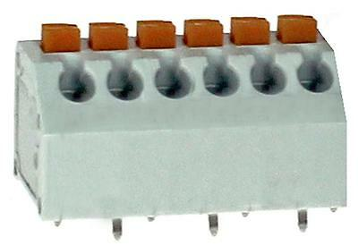 PCB TERM SCREWLESS 45DEG 3.81MM 6P Connectors Terminal Blocks, PCB TERM,