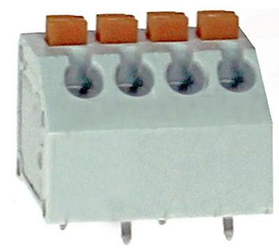 PCB TERM SCREWLESS 45DEG 3.81MM 4P Connectors Terminal Blocks, PCB TERM,