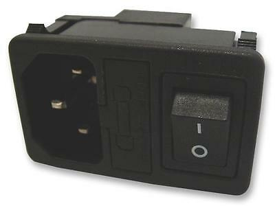 INLET IEC DPST WITH FUSE HOLDER Connectors Power Entry - CN18632
