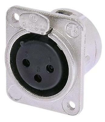 XLR PANEL SOCKET 3WAY/M3 FIXING Connectors Audio Video Connectors