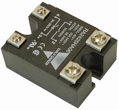 SSR: 240VAC/25A - AC INPUT Solid State Relays Panel Mount