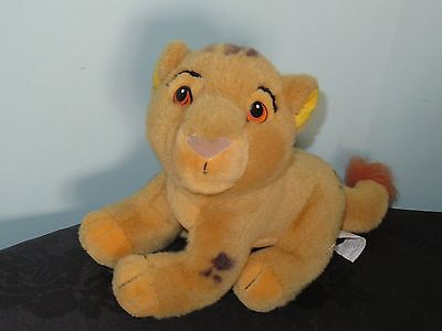 The Lion King Simba Soft Plush Toy. 8 inches high. Disney Store