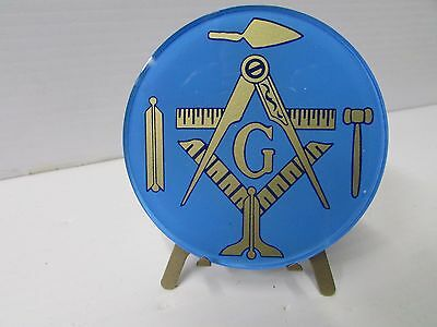 Acrylic Masonic Light & Working Tools Car Stick-On Emblem