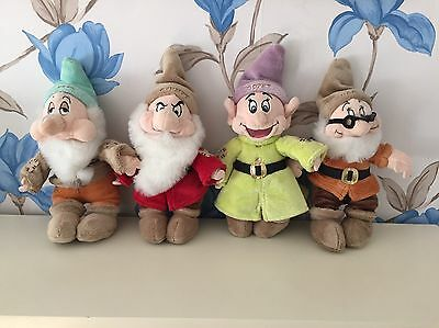 Official Disney Dwarf Plush Soft Toys From The Disney Store 4 Characters - L@@K