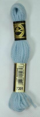 DMC TAPESTRY WOOL, 8m SKEIN, Colour 7301 VERY LIGHT SKY BLUE