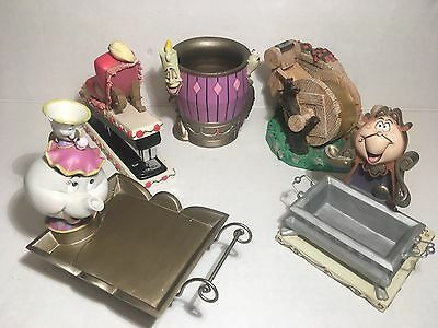 Beauty and the Beast 5 Piece Desk Set  RARE Disney Limited Collectibles