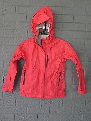 Rei Coop Girls Rain Wall Wind Rain Jacket Coat Barely Worn Small 8 Nantucket Red