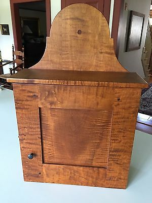 "David T. Smith ""Tiger Maple"" Hanging Wall Cupboard"