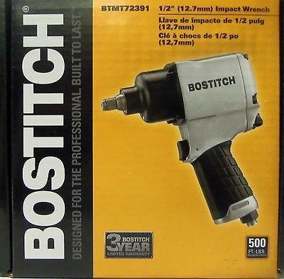 "Bostitch 1/2"" Impact Wrench BTMT72391 - 500ft-lbs Free Shipping NEW"