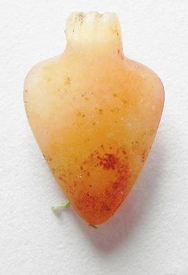 Zurqieh- Af2160- Ancient Egypt, New Kingdom Carnelian Bead / Pendant. 1400 B.c