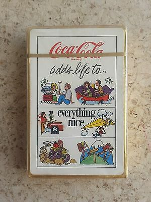 1976 MINT SEALED Coca-Cola Playing Cards - Coke Adds Life - Activities!!
