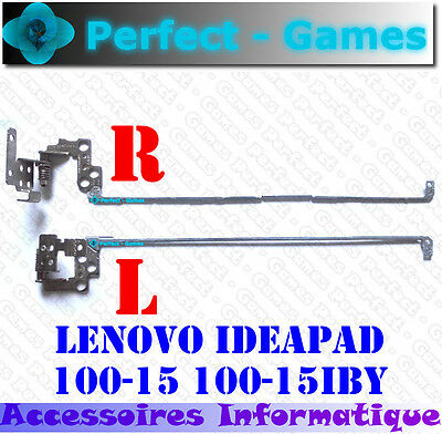 Lenovo Ideapad 100-15 100-15IBY Charnières lcd hinges droite gauche left right
