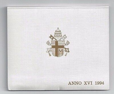 Vatican Coins Official 7 Coin Mint Set 1994  Anno 16