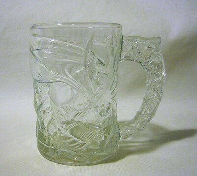 McDonald Batman Forever Glass Mug Cup Frosted DC Comics 1995