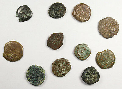 GROUP OF 11 ANCIENT COINS FROM JUDAEA Maccabee, Agrippa I, 1st Revolt  (LOT 108)