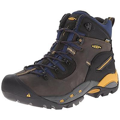 Keen 8191 Mens Pittsburgh Black Steel Toe Work Boots Shoes 12 Medium (D) BHFO
