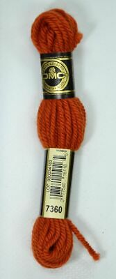 DMC TAPESTRY WOOL, 8m SKEIN, Colour 7360 DARK ORANGE SPICE