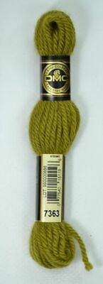 DMC TAPESTRY WOOL, 8m SKEIN, Colour 7363 GOLDEN OLIVE GREEN