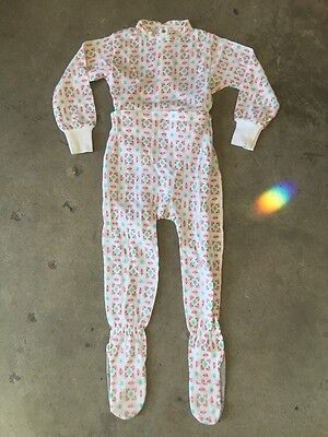 VTG NOS DEADSTOCK Carters Footed Sleeper Pajamas Flower Starburst sz 3 yr