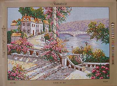 Gobelin needlepoint- Summer Cottage 10.541- Large canvas 19.5 x 27.5""