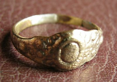 Ancient Artifact > 16th Century Bronze Finger Ring SZ: 9 US 19mm 14750 DR