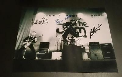 """The Jam Band X3 Pp Signed 10""""x8"""" Photo Paul Weller Mod Repro"""