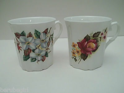Two(2) Royal Grafton Floral Flower Coffee Hot Chocolate Mug Cup Teacup Excellent
