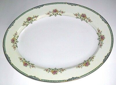 "Art Deco Style 16"" platter from 1930'S NORITAKE GAINSBORO collection"