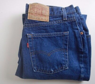 Levi's 501 High Waist Zip Fly Denim Jeans Made USA 26501 0156 vtg