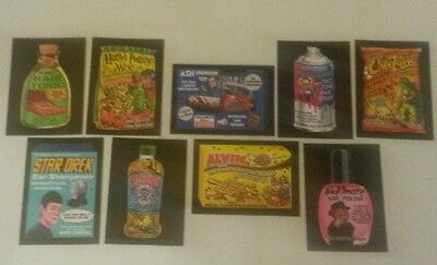 2017 Topps Wacky Packages Crazy Movies Insert Set (9)