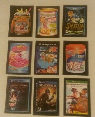 2017 Topps Wacky Packages Crazy Video Games Insert Set (9)