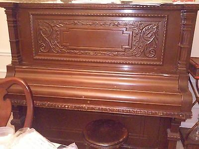 19th Century Piano Upright, Just FOUND--1892 SCHUBERT ,Mandolin Piano