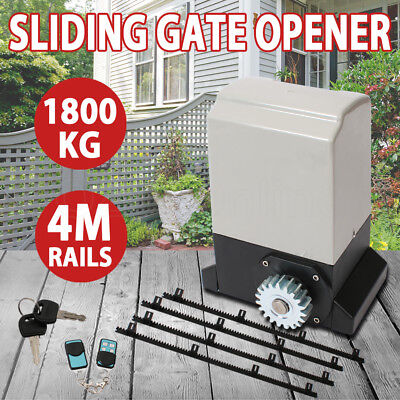 Sliding Electric Gate Opener 1800KG 4M Automatic Remote Kit Fence Heavy Duty AU