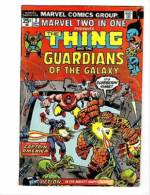 Marvel Two In One #5 2Nd Guardians Of The Galaxy Gotg Captain America Vg/fn Key
