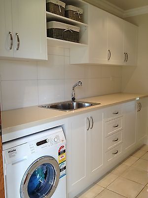 complete Laundry cabinets and bench top