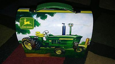 JOHN DEERE Lunch Box Collector Tin Workmans Carryall 2007 fast free ship usa!!!!