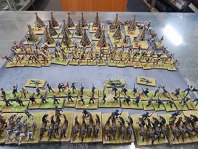 1/72 plastic painted U.S Cavalry vs Indians