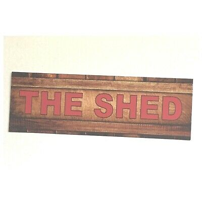 Pas Shed Sign Man Small Grandparent Garage Room Rustic Wall Plaque or Hanging