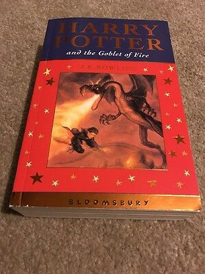 Harry Potter And The Goblet Of Fire 1st Edition First Print UK Celebratory PB