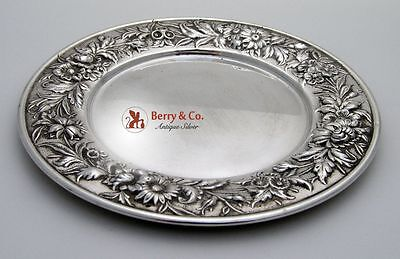 Kirk Repousse Bread and Butter Plate Sterling Silver 1940