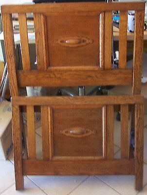 Antique Edwardian VONO Single Bed – Head and Foot Boards Plus Rails